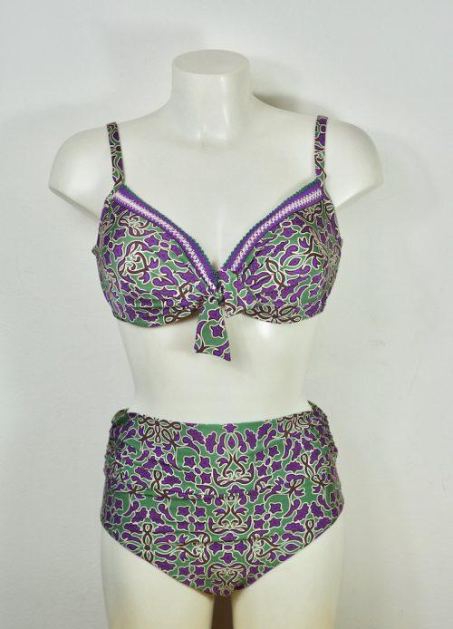 bikini viola e verde Olivia
