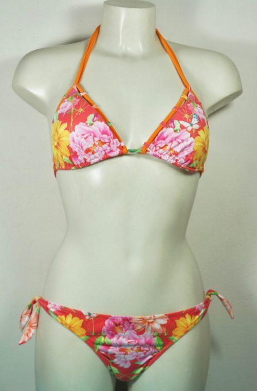 bikini triangolo fiori e animali