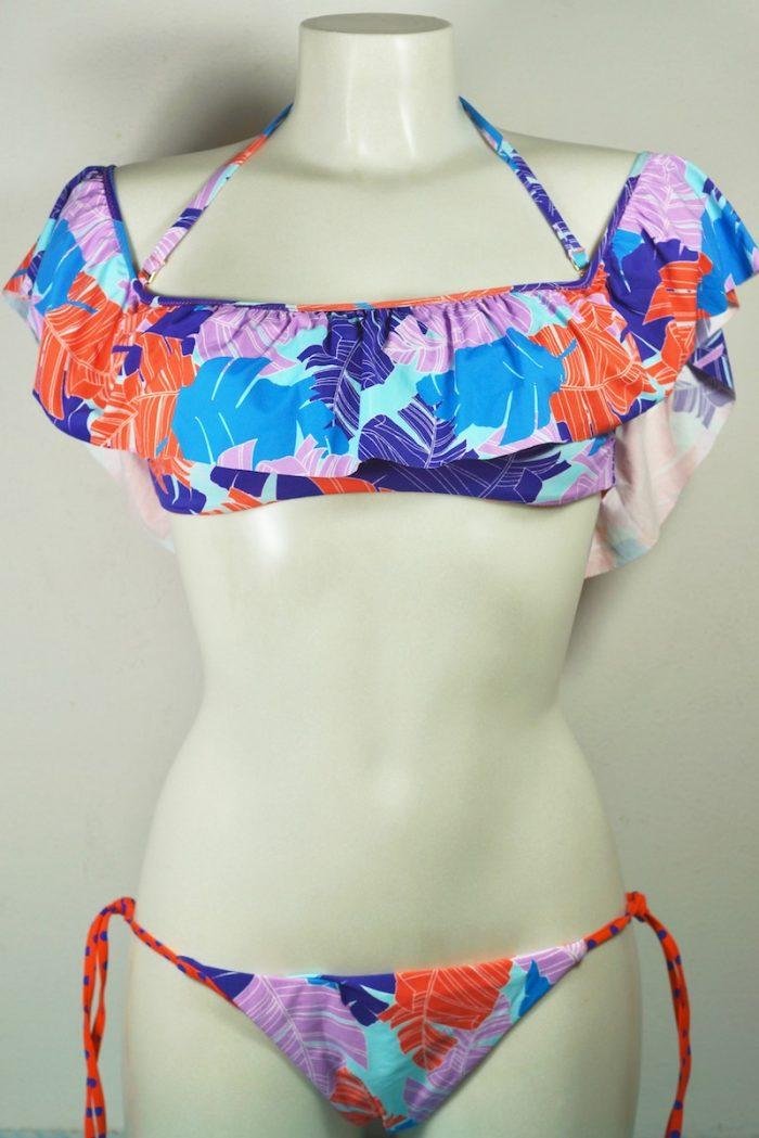 bikini fascia con voulant Verdissima