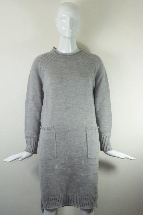 abito grigio in lana Max Mara