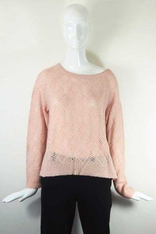 maglia rosa traforata Twin set