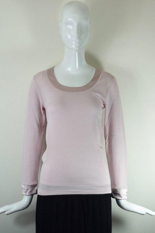 maglia rosa lana e seta Oscalito