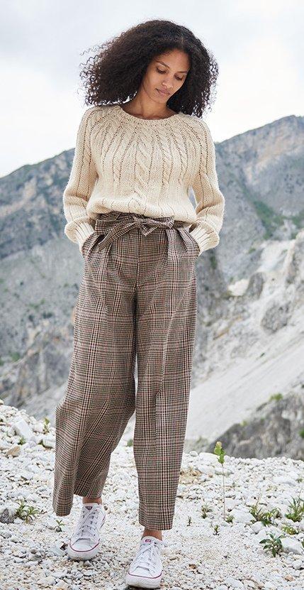 pantalone quadretto B.yu