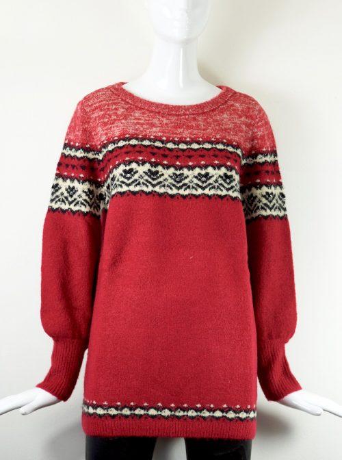 maglia lana fantasia rossa Twin-set