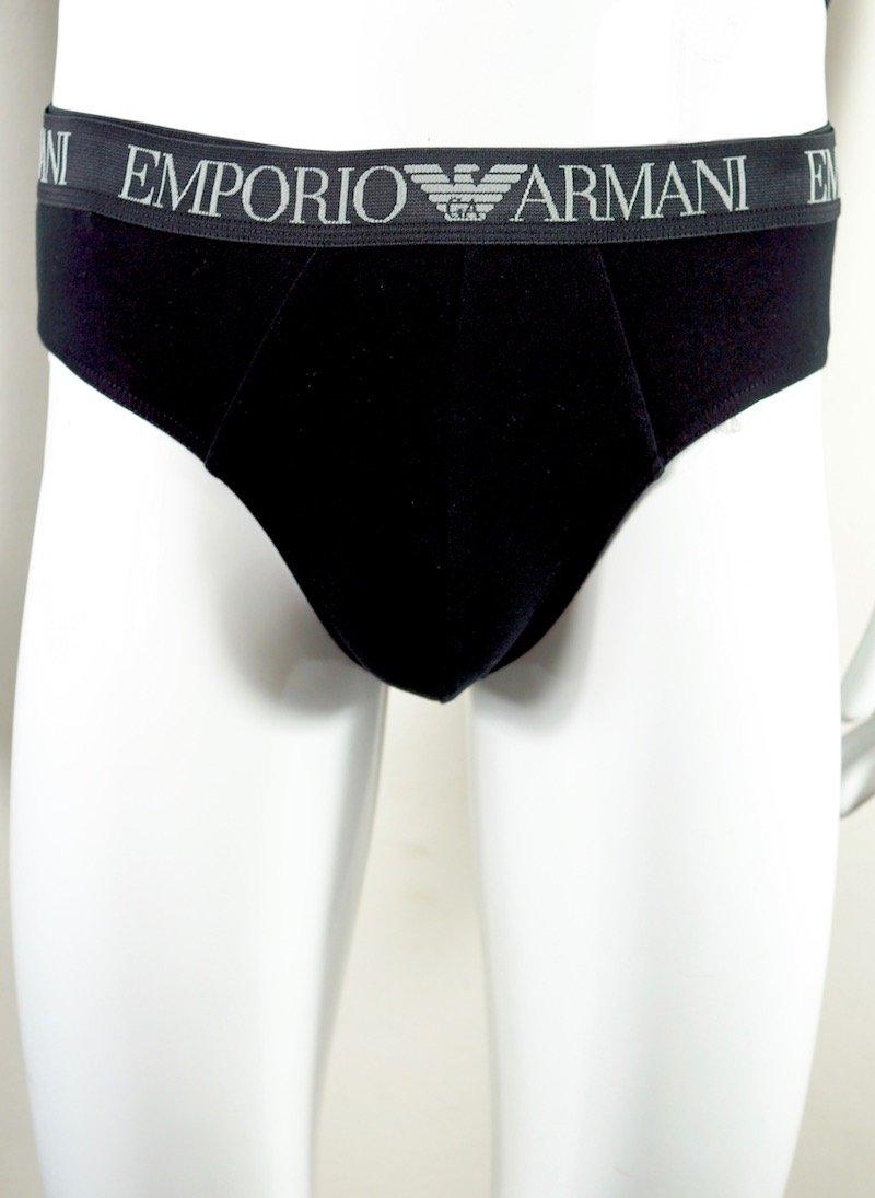 slip bipack grigio e nero Emporio Armani