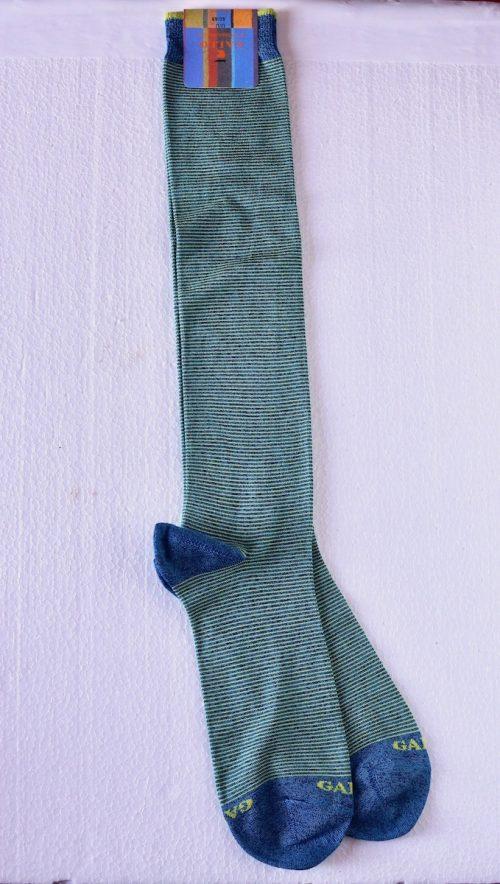 calzino microriga verde Gallo