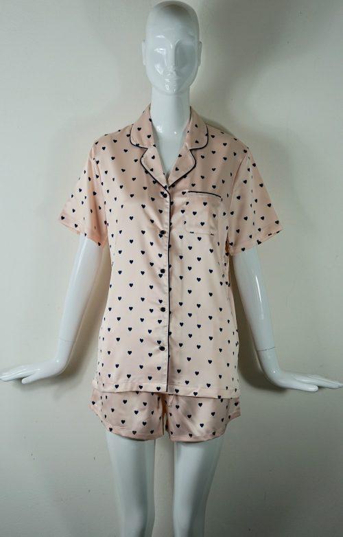 pigiama raso corto Aznar donna