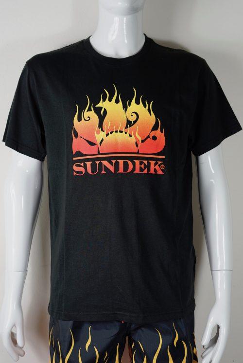 t-shirt fiamme Sundek uomo