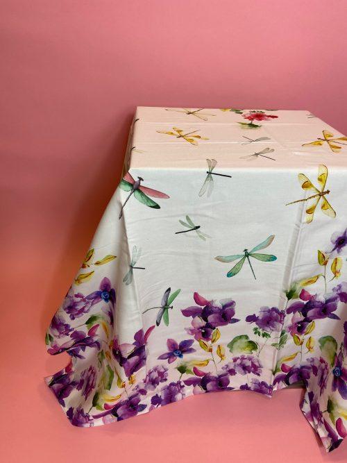 violette e libellule tovaglia da 6
